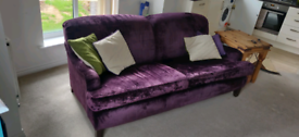 Purple 3 seater sofa - open to offers