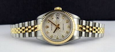 ROLEX - 18kt Gold & Stainless DateJust Silver Jubilee Diamond 79173 - SANT BLANC