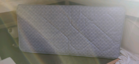 Single blue mattress