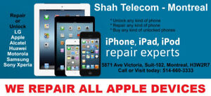 Repair or Unlock iPhone, Samsung, LG, Xperia, Moto, HTC, Nokia