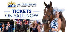 2 tickets to Queens Plate/Brad Paisley - $75 ea for 2 days