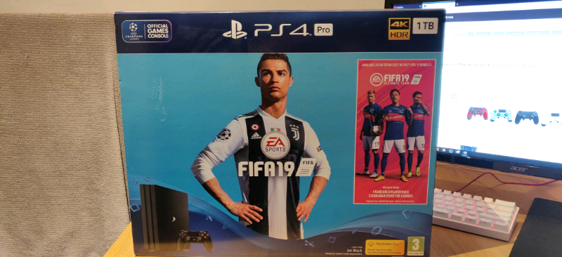 PlayStation 4 pro with fifa 19 | in Bangor, County Down | Gumtree
