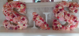 Flowered letters
