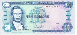 Billet hors circulation de  10  TEN  DOLLARS  de JAMAICA, 1987.