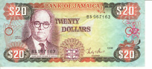 Billet hors circulation de  20   DOLLARS  de  JAMAICA, 1986.