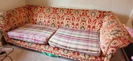 Tetrad Elgar grand sofa, good condition with foam cushions