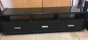 Tv/entertainment stand with 2 end tables