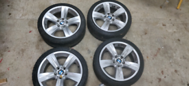 "BMW style 189 18"" alloy wheels x4 E90/E91/E92"
