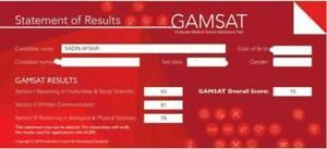 GAMSAT S2 TUTORING- 99TH PERCENTILE SCORING TUTOR