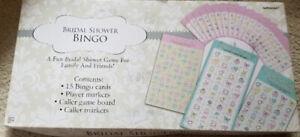 Bridal Shower Bingo Wedding Games Cards Guest Bride