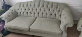 3 Seater Sofa and 2 Chairs Pale Green