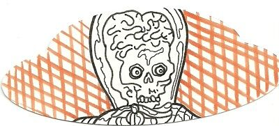2017 Topps Mars Attacks The Revenge ! Die-Cut Shaped Sketch by Bryan Abston