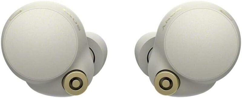 Sony WF-1000XM4 Noise Canceling Wireless Earbud Headphones - Silver