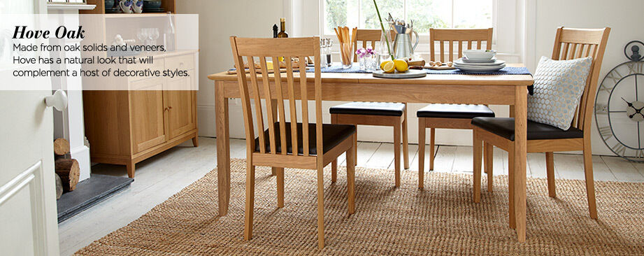 BHS Hove Oak Dining Table And 4 Chairs