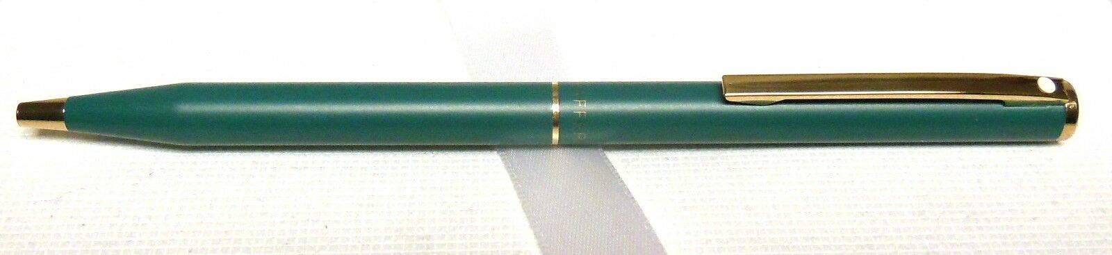 Sheaffer Fashion Ballpoint Pen, Vintage Green & Gold, Brand New, USA MADE