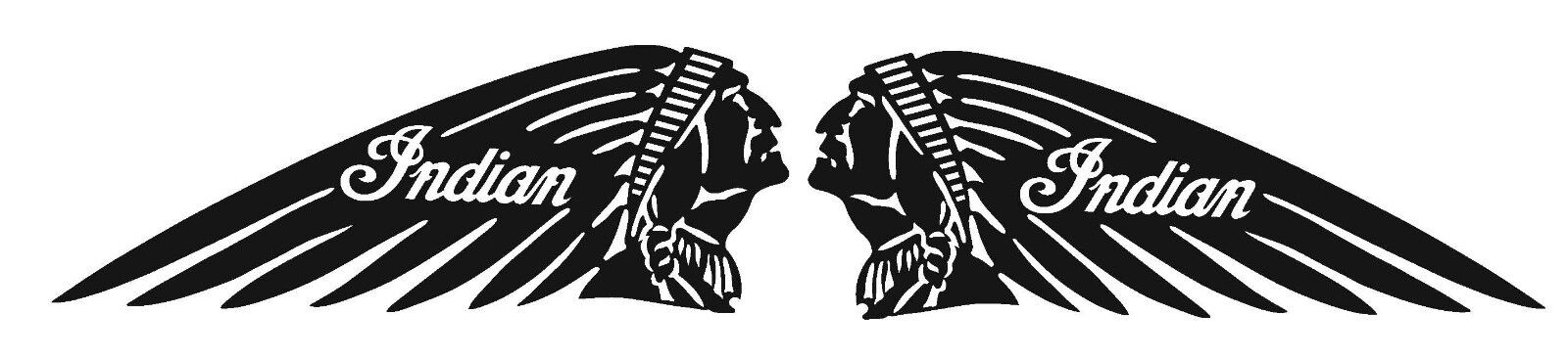 Home Decoration - Indian Motorcycle (2) Vinyl Decal / Sticker ** 5 Sizes **