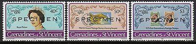 """ST VINCENT GRENADINES LONDON 1980 MNH SET WITH """"SPECIMEN"""" OVERPRINT (SC#599-601)"""