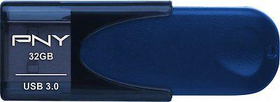 PNY Attaché 4 32GB USB 3.0 Flash Drive - Blue P-FD32GTBAT4NB-GE
