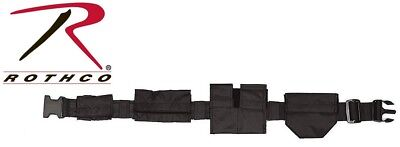 Black Utility Belt (Black SWAT Tactical Duty Belt With Pouches Utility Belt Rothco)