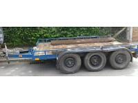 PLANT TRAILER TRANSPORTER 10ft X 6ft BED. 6 X HEAVY DUTY INDEPENDENT SUSPENSION UNITS. CALLS ONLY