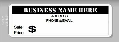 Personalized Business Custom Printed Price Taginventory Ctrl Labels 1 X 3