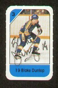 Blake-Dunlop-signed-autograph-auto-1982-83-Post-Cereal-NHL-Hockey-Card