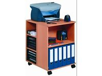 Multi function trolley open beech color
