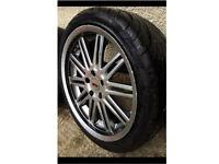 18' BMW wheels with great tyres zcw 5x120