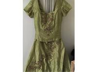 STUNNING ASIAN BRIDAL /PARTY SKIRT DRESS NEW