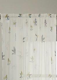 Pretty voile curtain