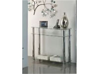 New Clear Glass Console Table, Hygena, New in Sealed Box, Was £88.00, Sell £38.00