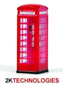 EFE 99623 Red Post Office Telephone Box (Decorated) x 1 '00' Gauge New Pack