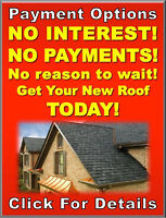 Roofing - Payments as low as $70 Per Month - Easy Approval!