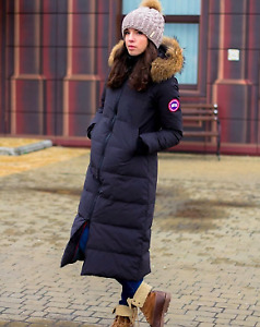 26e13203b6352 Ladies Mystique 3 4 Length Black Canada Goose Coat