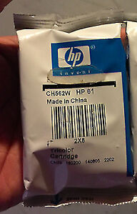never used sealed in pack oem HP 61 tricolor cartridge