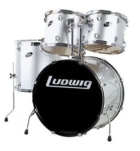 Batterie drum usagé SHELL KIT LUDWIG ACCENT 4 MCX silver!