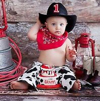 Cowboy Birthday/Halloween Cow Hide-Styled Outfit & Hat Watch|Sha