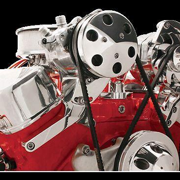 Big Block Chevy Independent Top Mount Compressor Bracket short water pump a/c