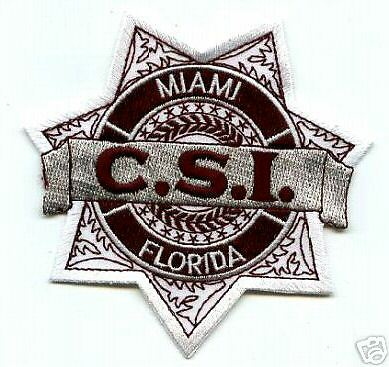 N TV CSI MIAMI CRIME SCENE INVESTIGATOR PROP POLICE PATCH (Halloween-tv)