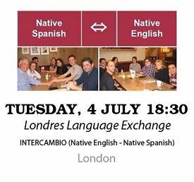Native Spanish - Native English - Londres Language Exchange - Tuesday 4th July