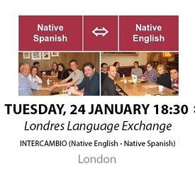 Native Spanish - Native English - Londres Language Exchange - Tuesday 24th January