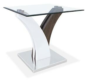 Tuxedo - Glass End Table (Mint Condition) - SAVE $$$