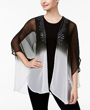 Steve Madden Sequined Ombre Sheer Kimono One Size Fits Most