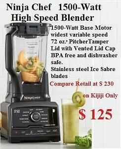 NEW out of the box Ninja Chef 1500-Watt variable speed control High Speed Blender 10 pre-set Auto-iQ programs