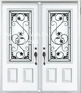 Entry Front Door Double  Custom