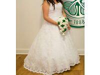 Mori Lee White 5115 Lace Wedding Dress