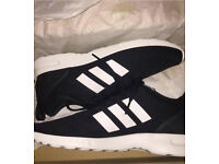 Adidas ZX Flux black trainers- size 7