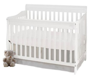 Baby Crib - Mattress and Mattress Cover Included