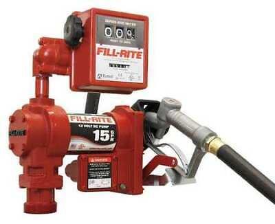 Fill-rite Fr1211h Fuel Transfer Pump 12vdc 15 Gpm 14 Hp Cast Iron 1 Npt