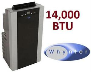 NEW WHYNTER 14,000 BTU PORTABLE AIR CONDITIONER DUAL HOSE HEATING COOLING AIR QUALITY TEMPERATURE